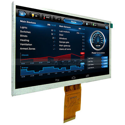 7 inch 1024x600 TFT LCD Display Optional Resistive/Capacitive Touch AT070TNA2