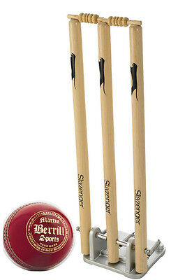 Slazenger Junior Spring Stumps with MBS Glory Cricket Ball