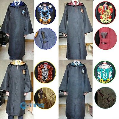 Capa de Harry Potter Cloak Robe Gryffindor / Slytherin / Hufflepuff / Ravenclaw