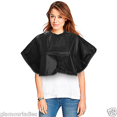 DMI Black PVC Hairdresser's Salon Shoulder Tinting Cape Hair Cutting Colouring