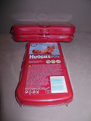 3 x huggies baby wipes travel dispenser / box