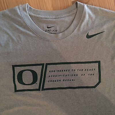 Rare Nike Oregon Ducks NCAA American Football Dri Fit T Shirt