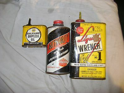 Lot Of 3-Vintage Oil Cans