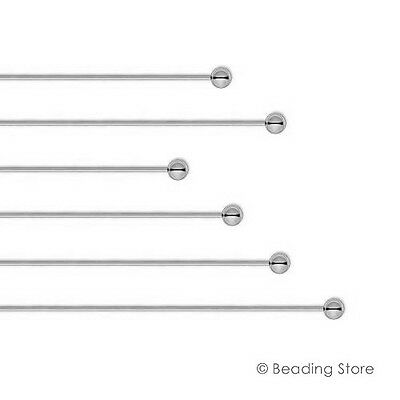 6 or 50 925 Sterling Silver 2mm Ball Bead 22ga 22 gauge 44mm Head Pins Headpins