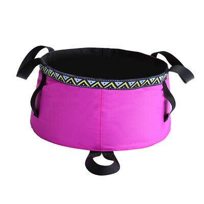 Portable 6L Washbasin Bucket Washing Basin Foldable Camping Travel Water Pot