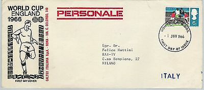 61094 - GB - POSTAL HISTORY - FDC COVER  1966 -  WORLD FOOTBALL CUP Hounslow!