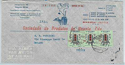61101  - ANGOLA - POSTAL HISTORY -  ADVERTISING COVER  to ITALY 1965
