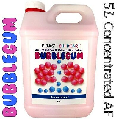 Car Air Freshener BUBBLEGUM Concentrated Spray 5L F-JAS Home Office UK SELLER