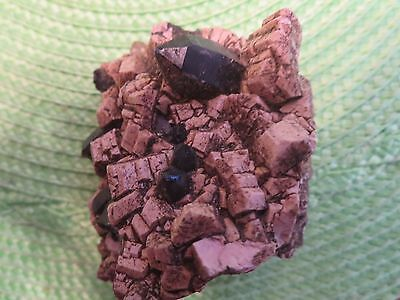 A Black Quartz Cluster Nice Point Great Gift 1/2Lb