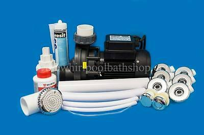 DIY 6 Jet Whirlpool Bath Kit inc Jets, Pump, Tool, Solvents and Pipe Work