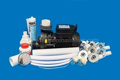 DIY 8 Jet Whirlpool Bath Kit inc Jets, Pump, Tool, Solvents and Pipe Work