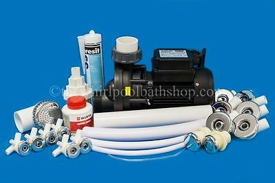 DIY 12 Jet Whirlpool Bath Kit inc Jets, Pump, Tool, Solvents and Pipe Work
