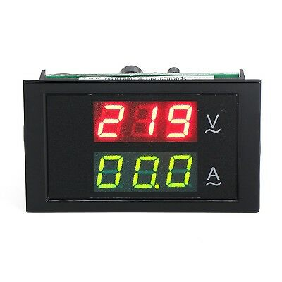 DROK AC 240 Digital Ammeter & Voltmeter 110-300V/50A LED Voltage Ampere Meter...