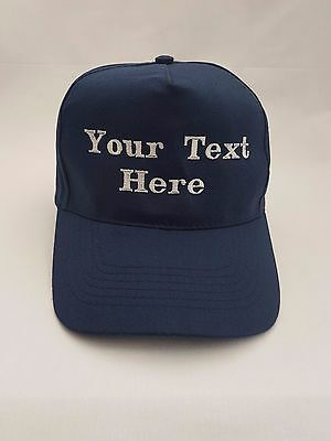 Personalised Embroidered base ball cap hat in Various Colours
