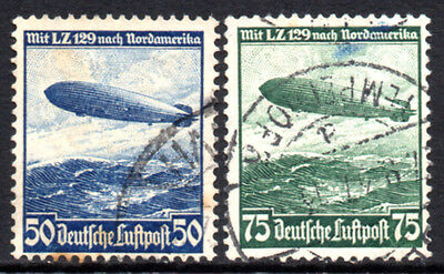 GERMANY 3rd REICH 1936 Zeppelin North American Voyage Fine USED Set SG.603/4