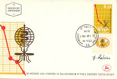 Yitzhak Rabin (Israel) - First Day Cover Signed