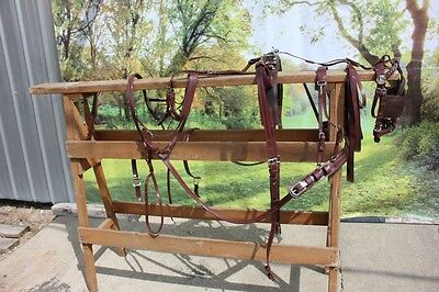 New extra nice BIOTHANE mini horse driving harness BROWN by Frontier Equestrian
