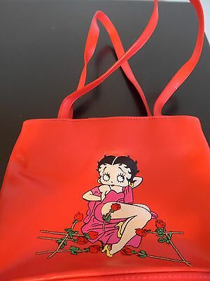 Vintage Betty Boop red roses purse tote bag in excellent condition