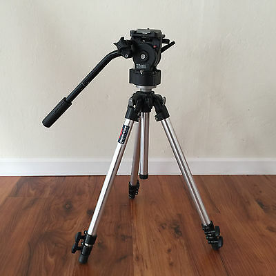 Bogen Manfrotto Pro Camera Support Professional 3001 Tripod with 3163 Head
