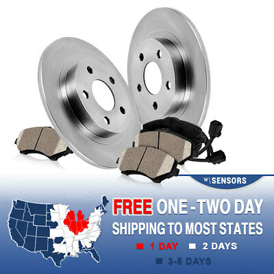 For 1990-1996 BMW 325i E36 Rear Slotted Brake Discs Rotors Ceramic Pads Kit