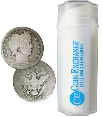 Roll of 40 $10 Face 90% Silver Barber Quarters No Dates