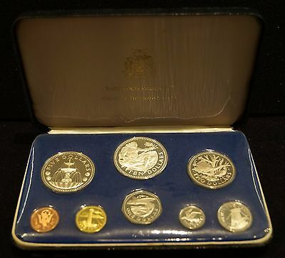 1974 Barbados Proof Set Struck By The Franklin Mint