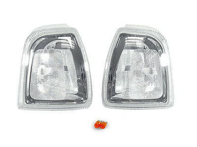 DEPO Euro Style Front Clear/Chrome Corner Light Pair For 2001-2006 Ford Ranger