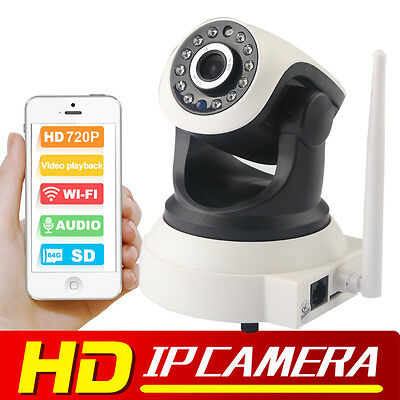 Indoor Wireless WiFi 720P HD IP Network CCTV Security Camera IR Night Vision UK