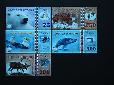 Arctic Territories Banknotes - Brilliant New Issue - Great Images - Gem Set