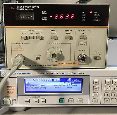 HP Agilent 436A Single Channel Power Meter Opt 022, 002 HP-IB