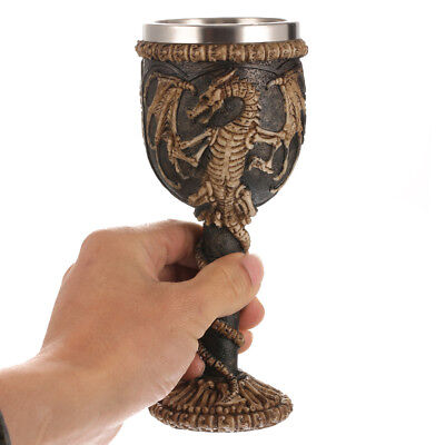 3D Dragon Claw Goblet Stainless Steel Skeleton Resin Halloween Drinkware