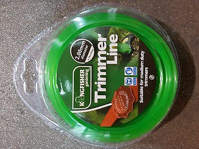 Trim Line Strimmer 15m x 2mm Durable Nylon Spool Refill Cord Wire Trimmer New