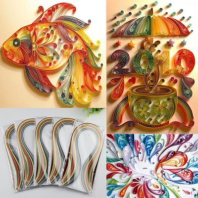 180pcs/Pack 5*540mm & Living Craft 36Colors Quilling Paper Origami Stripes