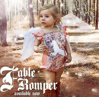 BNWT Rock Your Baby FABLE Ruffle Romper size 12-18 months