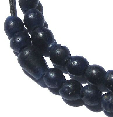 40 Rare Small Amazing Old Blue Dutch Antique Beads African Trade