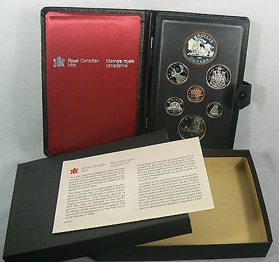 1981 Canada RCM TRAIN Double Dollar Set 7 Mint Proof Coins Box & COA