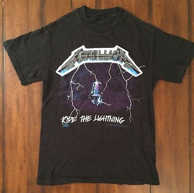 Vtg 1994 Metallica T Shirt Ride The Lightning Vintage Rock Band Small No Tag