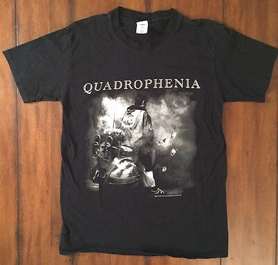 Black THE WHO 2012-2013 Quadrophenia Concert Tour T-shirt two sided Medium