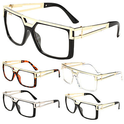 Non-Prescription Clear Lens Glasses Vintage Retro Hip Hop Rapper NERD fashion