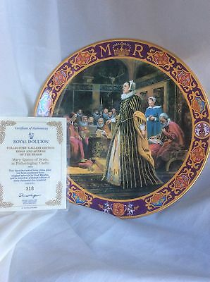 BNIB Royal Doulton MARY QUEEN OF SCOTS  KINGS AND QUEENS OF THE REALM PLATE