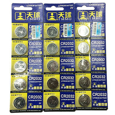 5x CR2025/CR2032 3V Batteries Coin Cell Button for Watch Toys Remote Bluelans