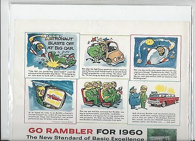 Go Rambler for 1960 The new Standard of Basic Excellence ad