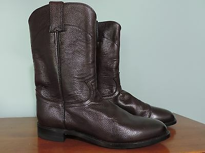 JUSTIN- MENS #3435 COWBOY BOOTS Western Riding Burgundy/Black Cherry Size 7.5D