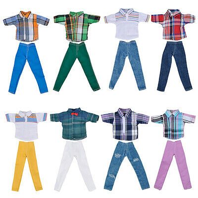 "Fashion Handmade T shirt +Pants Clothes Outfit for 11"" Barbie Boyfriend Ken Doll"
