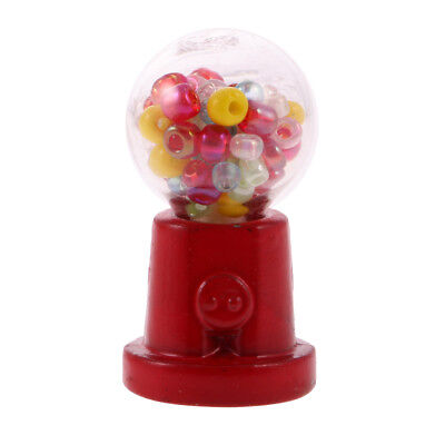Metal Mini Gum Ball Candy Machine Vending Toy for 1:12 Dollhouse Miniature