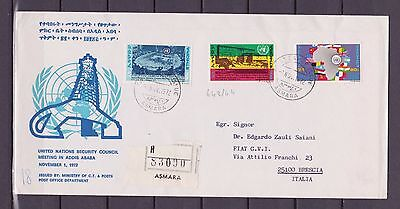s15397) ETHIOPIA FDC 1972 ONU Council 3v