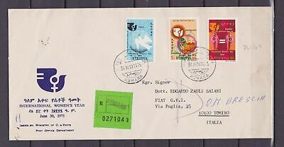 s15405) ETHIOPIA Registerd FDC 1975 Int. woman year 3v