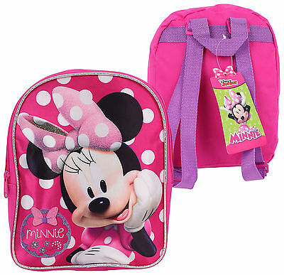 Disney Minnie Mouse Girls Mini Backpack One Size Pink/multi