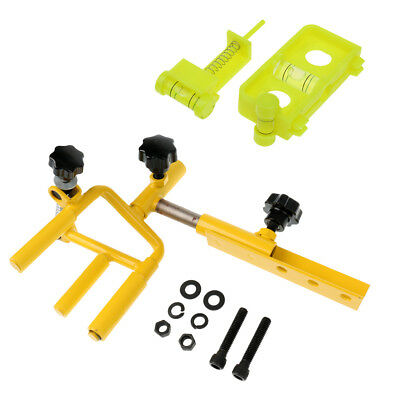 Adjustable Universal Archery Bow Vise + Arrow Bow String Level Combo Yellow