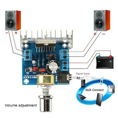 AC/DC 12V TDA7297 2x15W Digital Audio Amplifier DIY Kit Dual-Channel Module AU